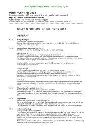 GENERALFORSAMLING 20. marts 2013 REFERAT
