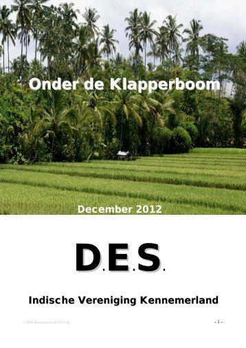 Nieuwsbrief DES Onder de Klapperboom DEC 2012 - Indische ...