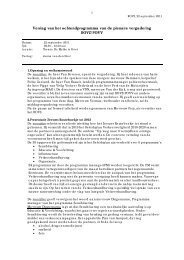 Verslag ROVZ-plenair/POVV ochtendprogramma 22 september 2011