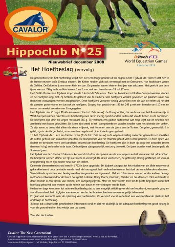 Hippoclub Nieuwsbrief nr. 25 - Cavalor