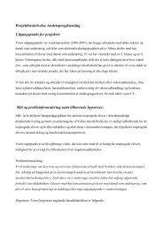 Projektbeskrivelse Andetsprogslæsning Udgangspunkt for projektet ...
