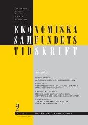 Nummer 2/2001 - Ekonomiska Samfundets tidsskrift