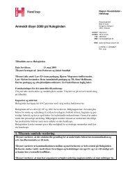 Tilsynsrapport Hulegården 2009.pdf - Den Sociale Virksomhed