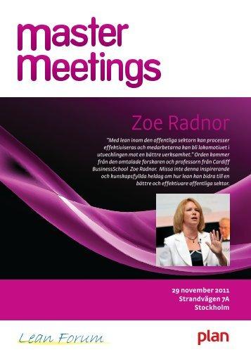 Zoe Radnor: Hur kan lean effektivisera den offentliga sektorn? - Plan