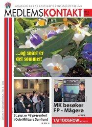 Medlemskontakt nr 2 - 2008 - FORSVARETS SENIORFORBUND