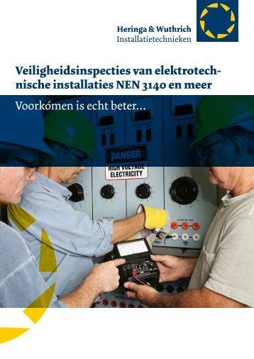 Inspecties - Heringa & Wuthrich installatietechnieken BV