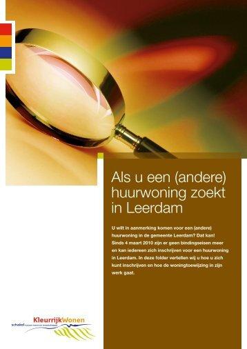 Als u een (andere) huurwoning zoekt in Leerdam - KleurrijkWonen