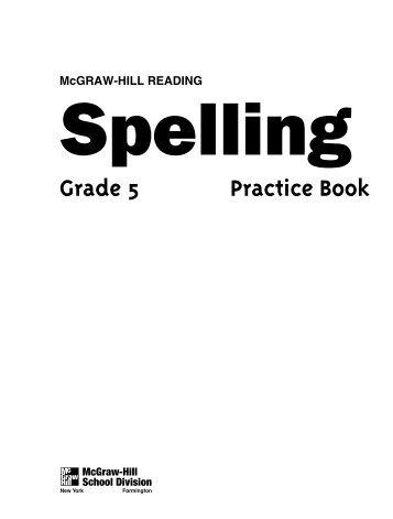 Spelling Practice Book - Elida Local School District