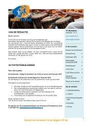 Digitale nieuwsbrief nr. 4 (december 2011) - Meerklank