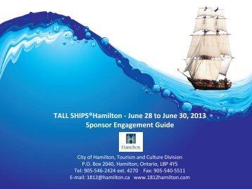 TALL SHIPS®Hamilton - June 28 to June 30 ... - Tourism Hamilton