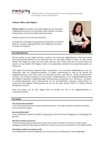NL portret Nathaly Taillieu - Mentoring
