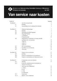 INHOUD bladzijde Hoofdstuk I. Van Service naar Kosten 3 I-1 ...