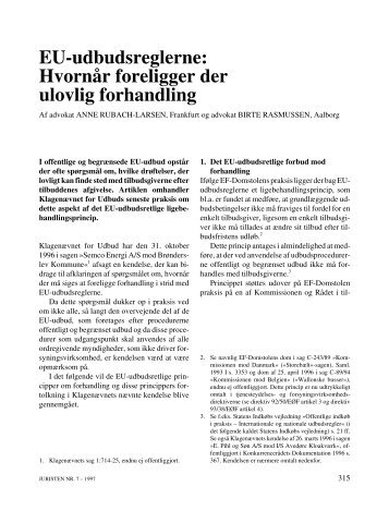 EU-udbudsreglerne: Hvornår foreligger der ulovlig forhandling