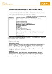 Contracten opstellen: structuur en inhoud van het contract - Nevi