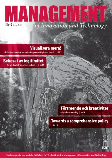 of Innovation and Technology Nr 2 - Stiftelsen IMIT