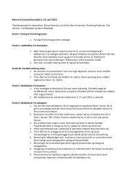 Referat fra bestyrelsesmødet d. 18/04 2013
