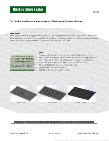 Revolutionerende Dansk solcelle montagesystem til flade tage