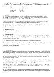 Notulen Algemene Ledenvergadering 2010 - Bedrijven Vereniging ...