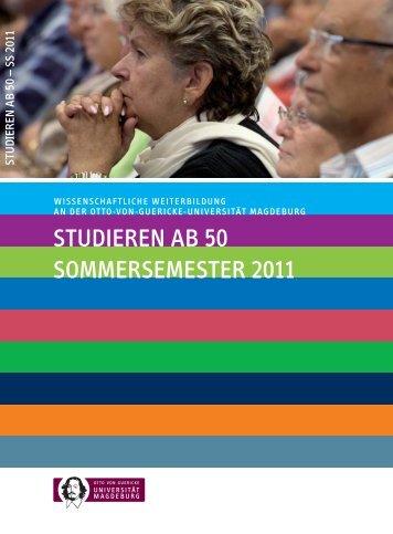 STUDIEREN AB 50 SOMMERSEMESTER 2011 - Lehrstuhl für ...