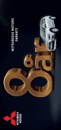 Villkor för garanti (pdf) - Mitsubishi