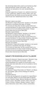Villkor för garanti (pdf) - Mitsubishi - Page 7