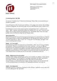 Utvärdering Kurs 9 Ht 2008 Av kursens 35 studenter har 21 lämnat ...