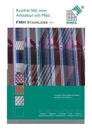 Rostfritt Stål i Arkitektur och Miljö Rimex 2012 - FMH stainless