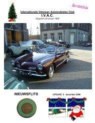 I.V.A.C. NIEUWSFLITS - Internationale Veteraan Automobi