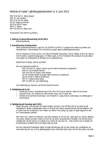 Referat af møde den 6. juni 2013 - Vores have - forside