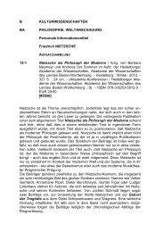 Nietzsche als Philosoph der Moderne - Informationsmittel für ...
