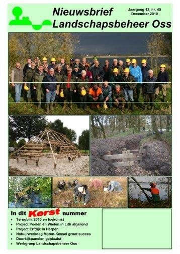 Nieuwsbrief December 2010 - Landschapsbeheer Oss