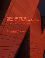 Planning + Design Facility UBC Integrated