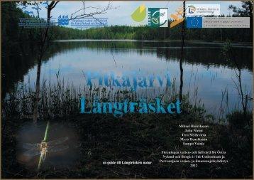 Långträsket - Itä-Uudenmaan ja Porvoonjoen vesien- ja ...