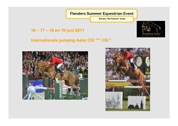 Flanders Summer Equestrian Event - Jumping Aalst