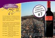 """Laatste Jubileum aanbieding #7 - Wijnhandel """"de Beloning"""""""