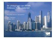 De uitdagingen van ERTMS Ombouw Thalys materieel - kivi niria