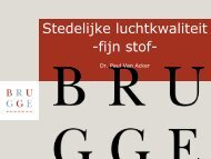 Stedelijke luchtkwaliteit Brugge