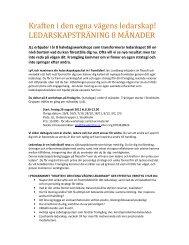 Kraften i den egna vägens ledarskap! - Jan Lundberg Leadership