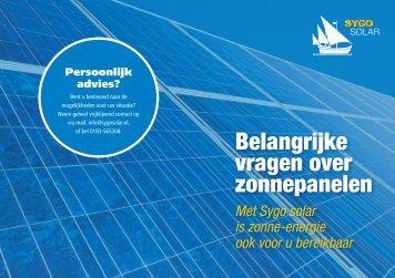 Belangrijke vragen over zonnepanelen - Sygo Solar