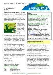 Newsletter des Regionalverbundes - Ausgabe 5 ... - Thüringer Wald