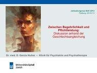 Dr. med. David Garcia, Zwischen Begehrlichkeit und ... - SGV