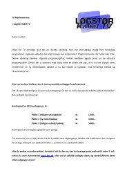 medlemsbrev - Løgstør Kabel TV