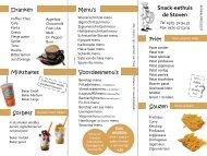 Wilt u de hele menukaart van onze snackbar zien? Klik hier