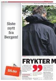 Siste nytt fra Bergen!
