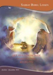 1 Sabbat Bijbel Lessen, juli – september 2011 - Seventh Day ...