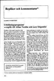 replik till Allan Nordin och Lars Stigendahl - Ekonomisk Debatt
