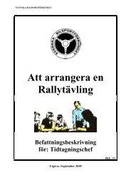 Tidtagningschef - Svenska Bilsportförbundet