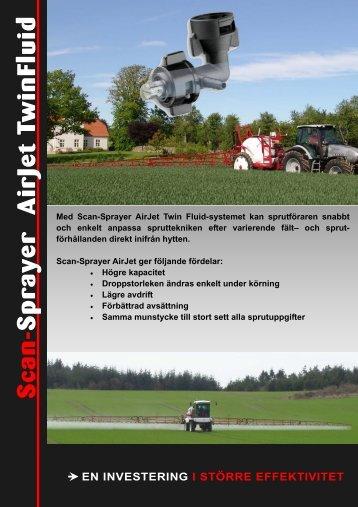 Scan-Sprayer AirJet TwinFluid Systemet - Scan-Agro