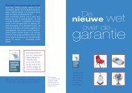 De nieuwe wet op de garantie - Europees Centrum voor de ...