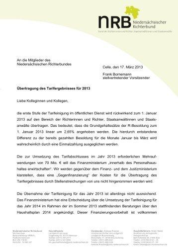 2013-03-17 Mitgliederinformation des NRB